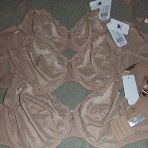 2 Wacoal Basic Benefits 855290 BEIGE bras 40DDD US